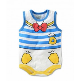Donald Duck Red Bow Sleeveless Romper