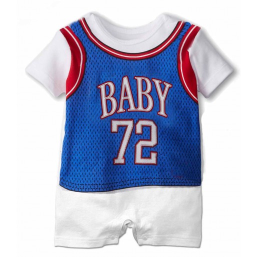 Sporty Blue Baby72 Short Sleeve Romper