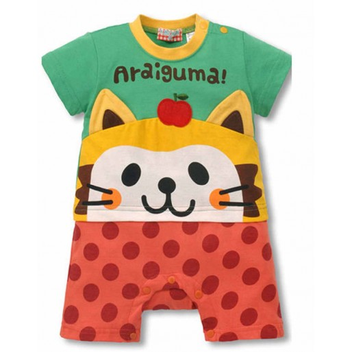 Hippy Animal Araiguma Short Sleeve Romper
