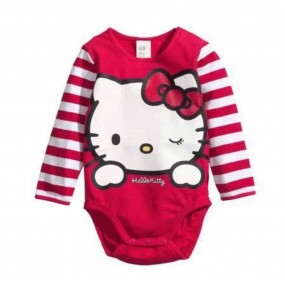 Hello Kitty Red Long Sleeve Romper
