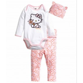 Hello Kitty 3pcs Long Sleeve Jumpsuit
