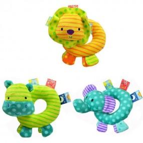 Happy Baby Animals Donut Hand Rattle Toy