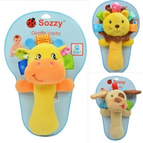Sozzy Animal Baby Hand Rattle