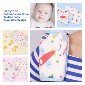 Babytoon Cotton Carrier Drool Teether Pads Reversible Design
