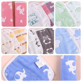 Organic Babytoon Muslin Carrier Teether Drool Pads Set Reversible