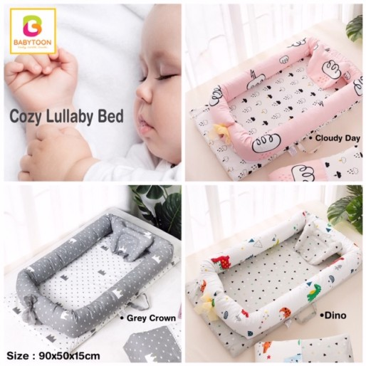 Babytoon cozy lullaby portable lounger bed