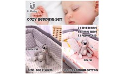 U:Baby Cozy Baby Crib Bumper Bedding 4pcs Set