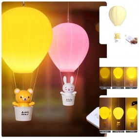 Adorable Hot Air-Balloon Remote Control LED Night Light