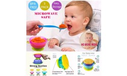 Best Suction Baby Bowls with Seal-Easy Lids 3pcs pack ( SAFE BPA FREE )